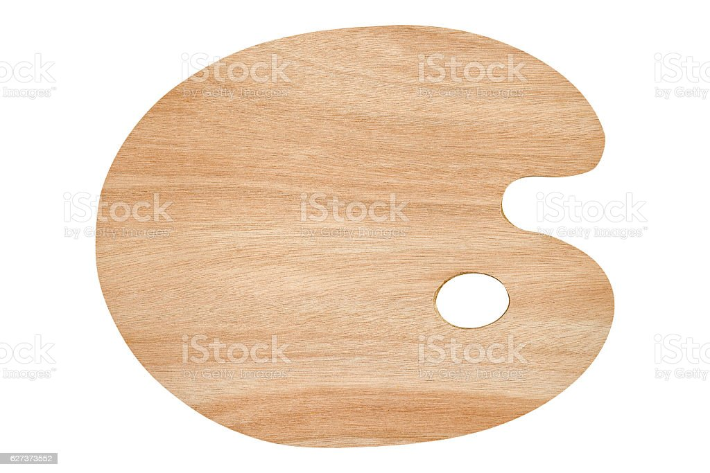 Empty wooden palette isolated on white. stock photo