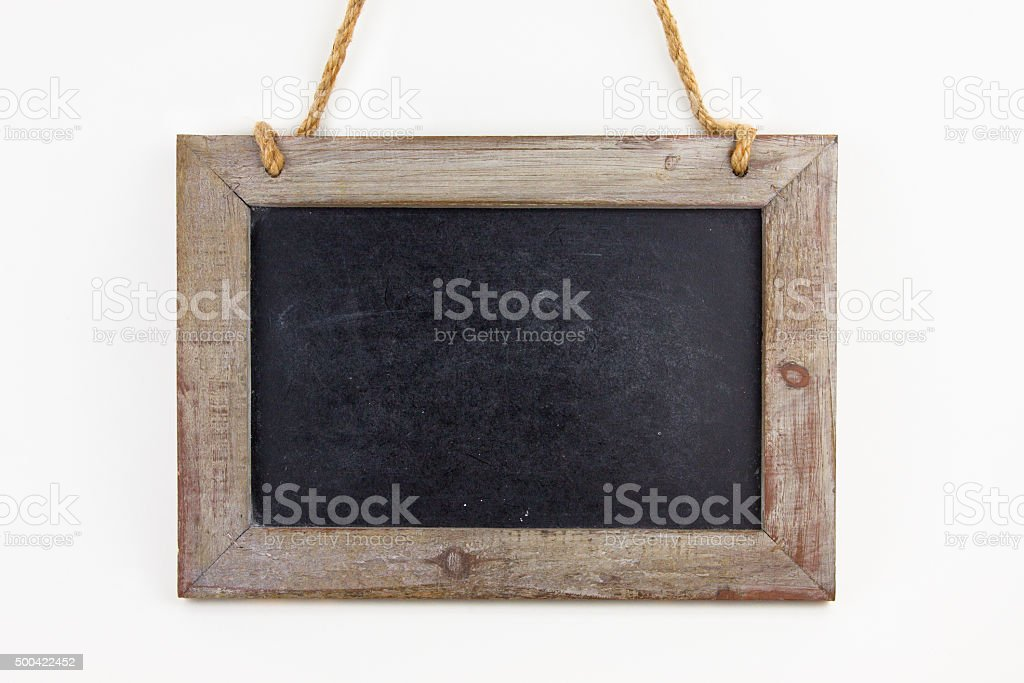 Leere Tafel aus Holz stock photo