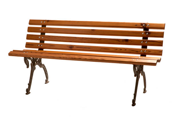 banc en bois vide. - banc photos et images de collection