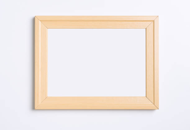 Marco de fotos madera vacía aislada sobre fondo blanco - foto de stock
