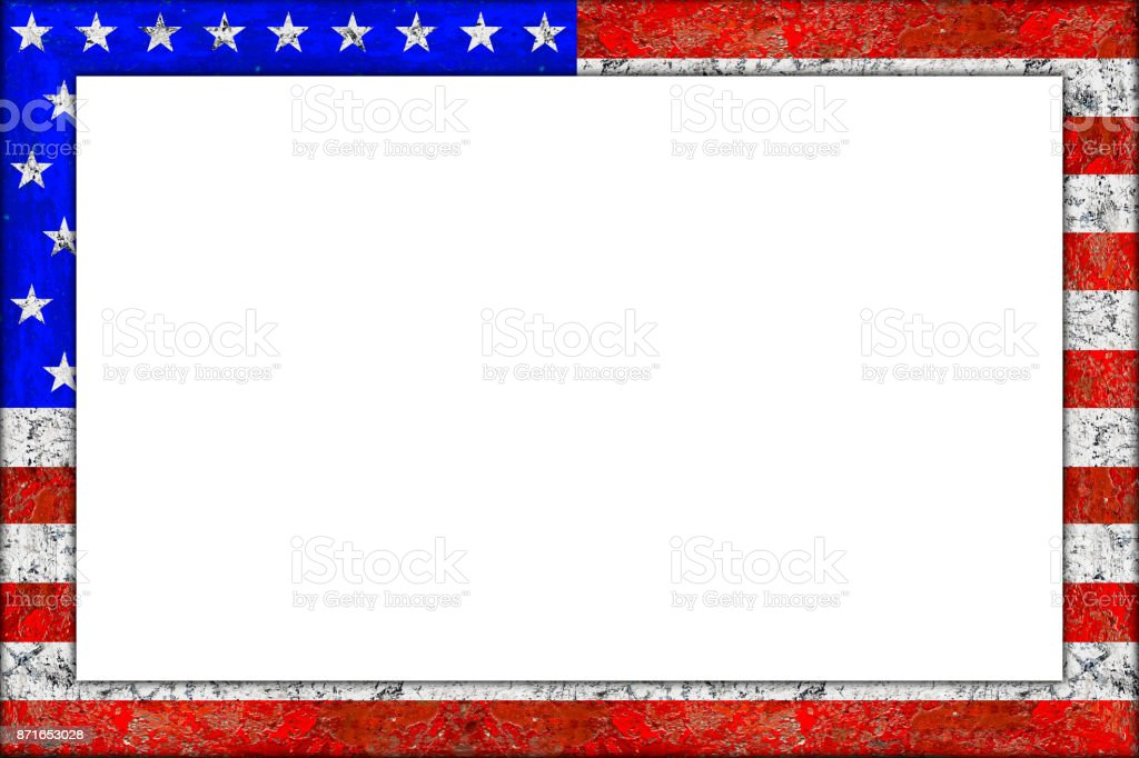 Leer Aus Holz Bild Rahmendesign Usa Flagge Stock-Fotografie und mehr ...