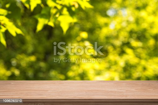 989111446istockphoto Empty Wooden Table And Autumn Abstract Background 1056292010