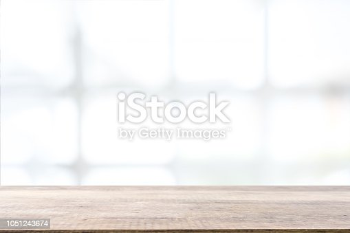 1002094650istockphoto Empty wooden table and window room interior decoration background, product montage display,can be used for display or montage your products.Mock up for display of product. 1051243674