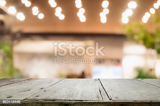 istock Empty wooden table for present product. 852418446