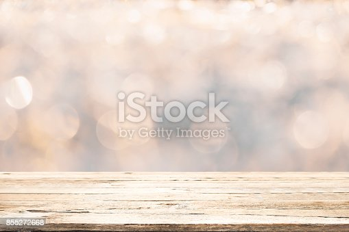 istock Empty wooden table for present product. 855272668
