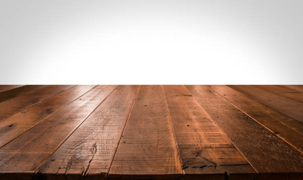 Empty wooden table for product placement - foto stock