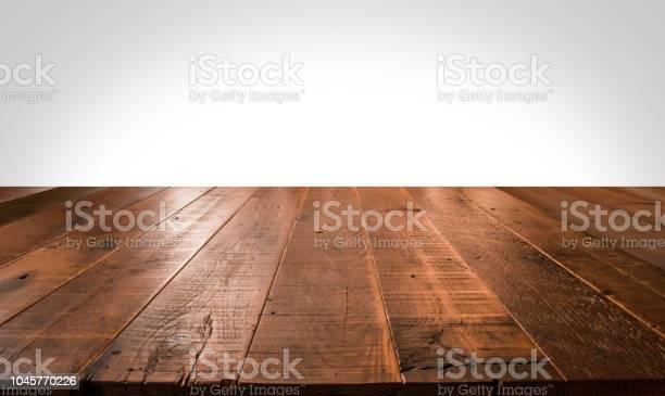 Empty Wooden Table For Product Placement - Fotografias de stock e mais imagens de Abstrato