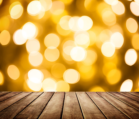 498688230 istock photo Empty wooden table in front of abstract blurred background 1179207542
