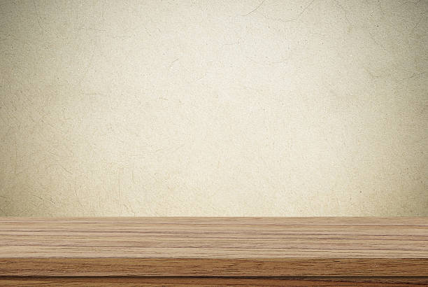 Empty wooden table over cement wall background stock photo. Rustic Wood Table Surface Pictures  Images and Stock Photos   iStock