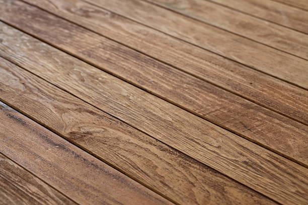 tavolo in legno vuoto - prospettiva lineare foto e immagini stock