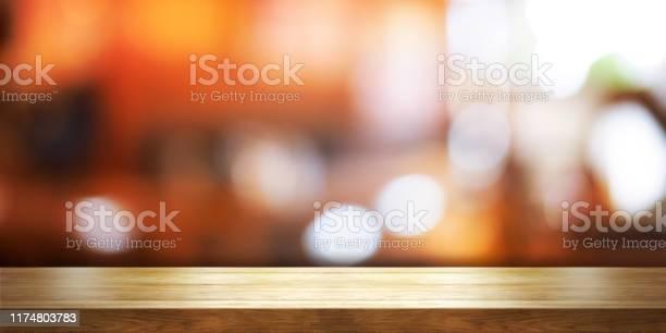 Empty wooden table top with blur coffee shop or restaurant interior picture id1174803783?b=1&k=6&m=1174803783&s=612x612&h=zigdk3krmnvnxqwwzbwuolnji7ikm2uuj0gtolg2 ug=