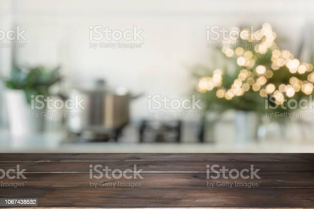 Empty wooden tabletop for display products and blurred kitchen with picture id1067438532?b=1&k=6&m=1067438532&s=612x612&h=qn4io8hl ckszvwbfo9vgtmhd587kwlgqvycret4ey8=