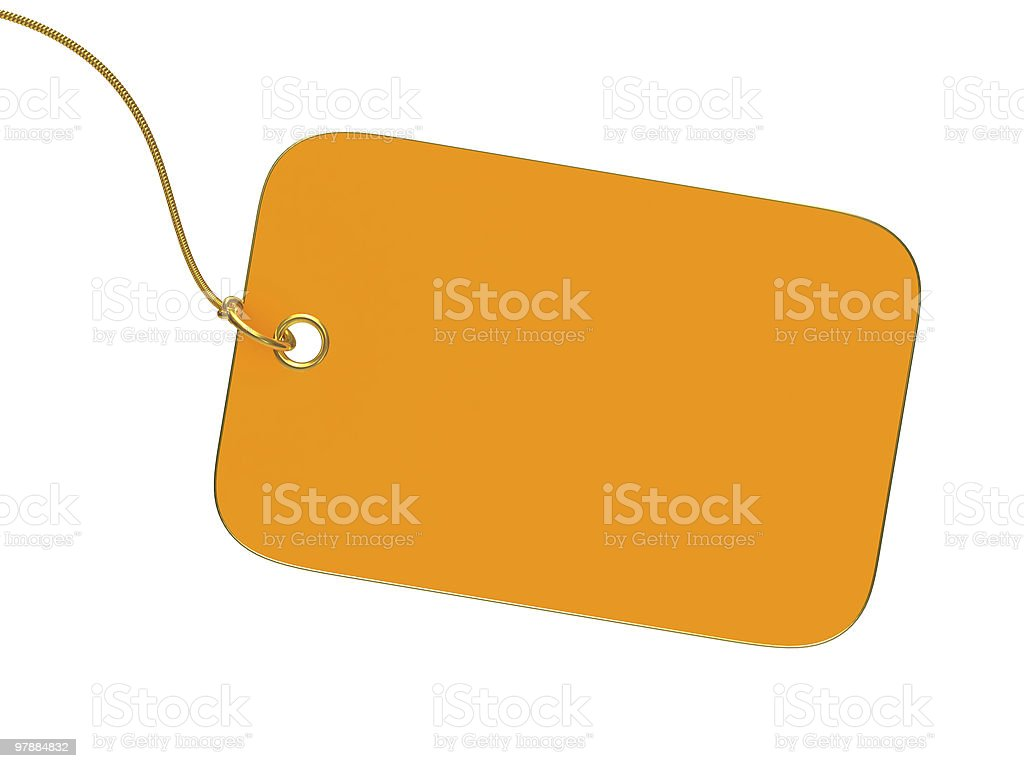 Empty yellow label stock photo