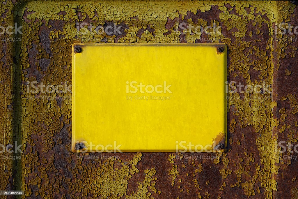 empty yellow sign stock photo