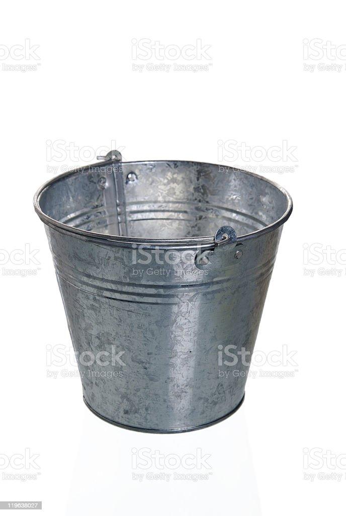 Empty zinced bucket royalty-free stock photo