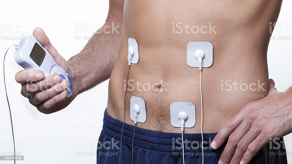 ems training Electrical muscle stimulation stock photo