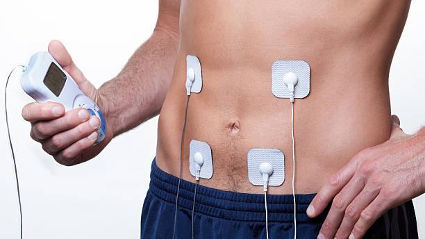 ems training Electrical muscle stimulation stock photo