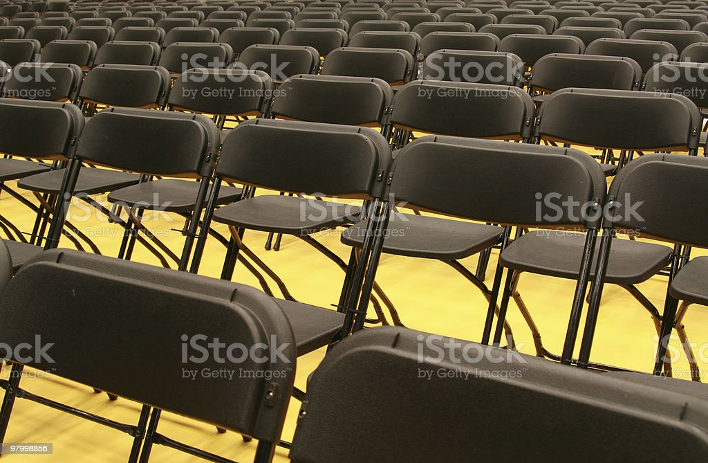 Emty chairs in a row. royalty-free stock photo