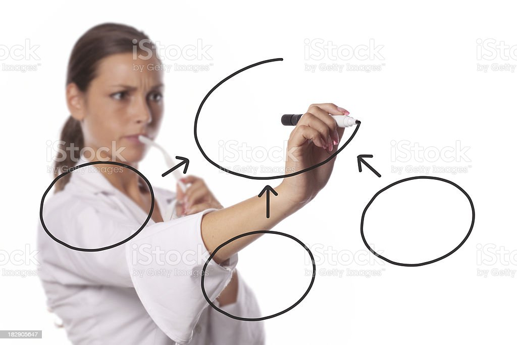 Emty diagram royalty-free stock photo