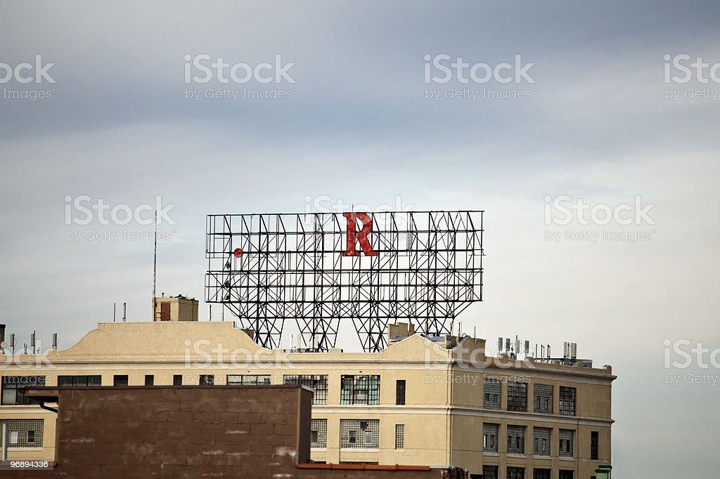 emty metal billboard royalty-free stock photo