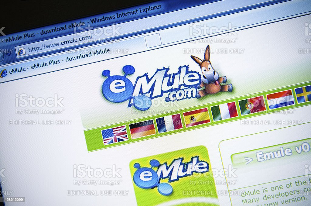 Emule.com main page - english version site royalty-free stock photo