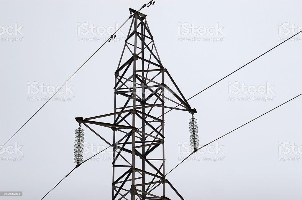 En lo mas alto de  la torre electrica royalty-free stock photo