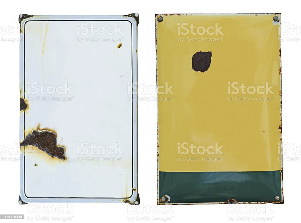enamel signs stock photo