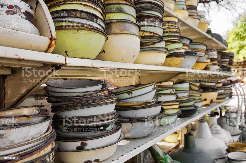 Enamel utensils royalty-free stock photo