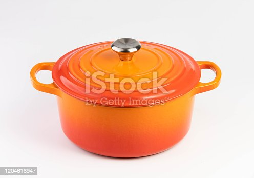 Enameled Cast Iron Stew Pot