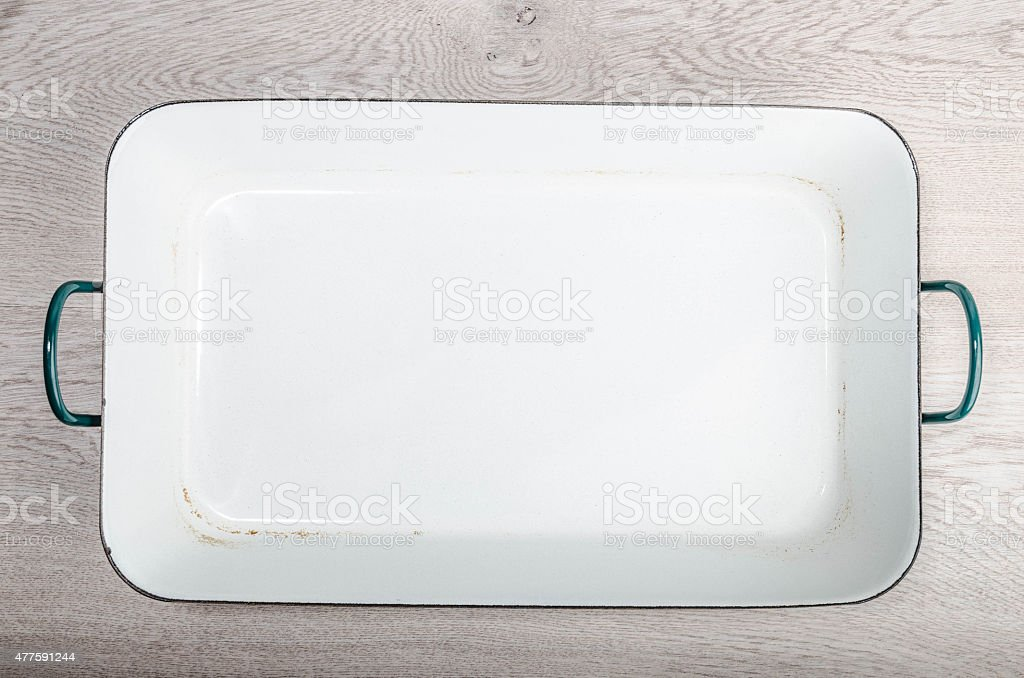 Enamelled kitchenware stock photo