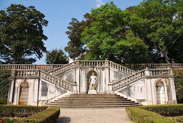 Enchanted Ajuda garden in Lisbon, Portugal stock photo