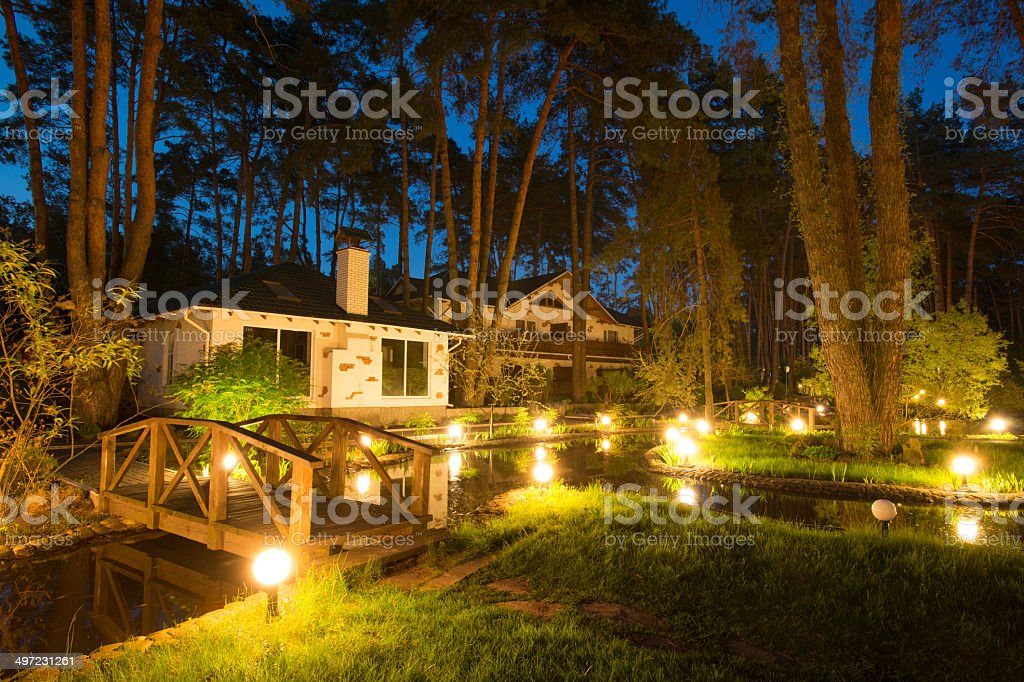 Enchanted house stock photo
