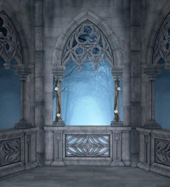 förtrollad terrass i den blå natten - palats bildbanksfoton och bilder