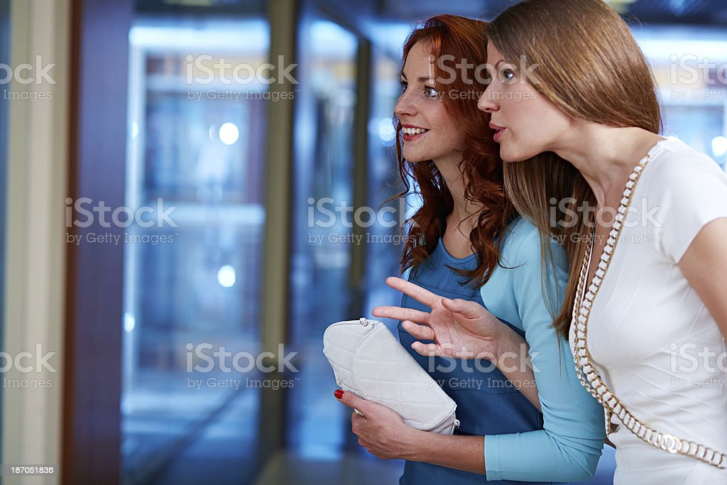 Enchanted with shopping window royalty-free stock photo