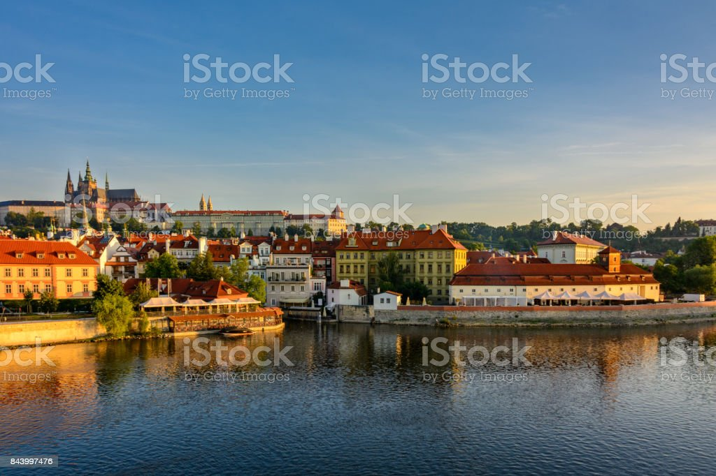 Enchanting Prague at dawn, Czech Republic stock photo