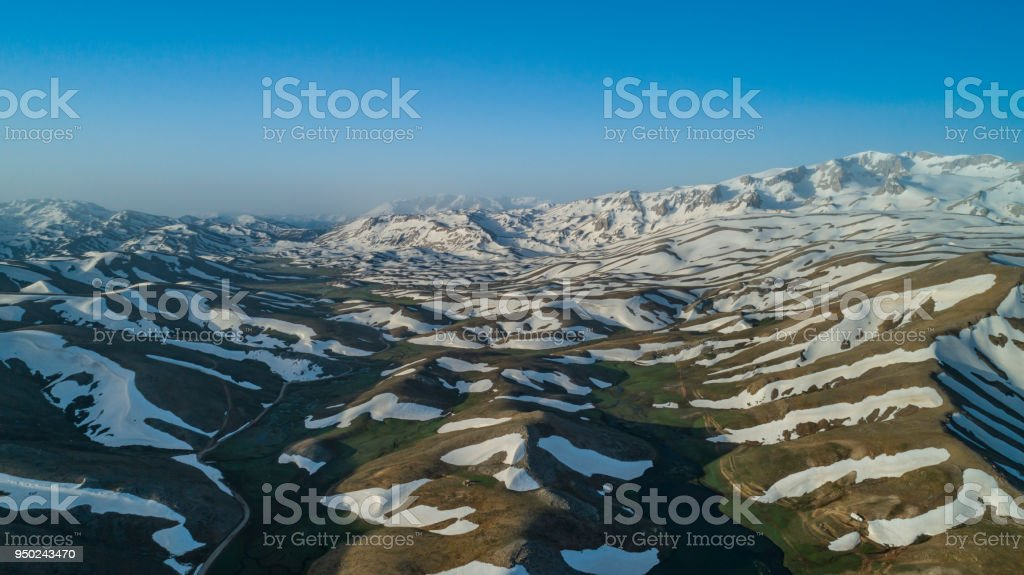 enchanting spring season in the mountains stock photo