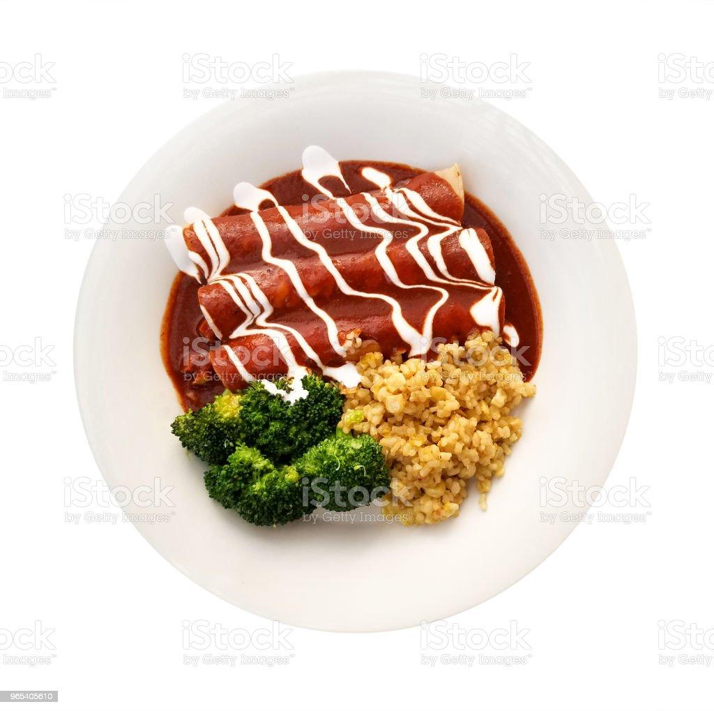 Enchiladas in Red Sauce zbiór zdjęć royalty-free