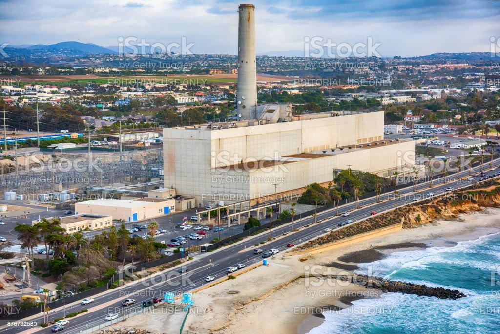 Encina Power Plant in San Diego County stock photo