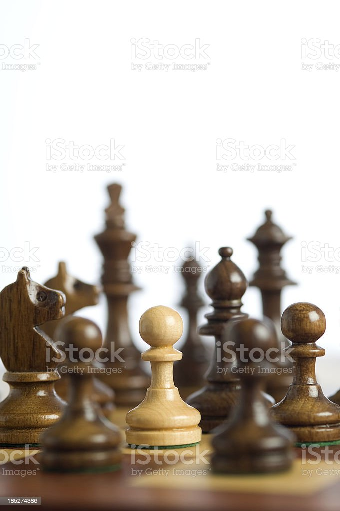 Encircled, pawn sacrifice stock photo