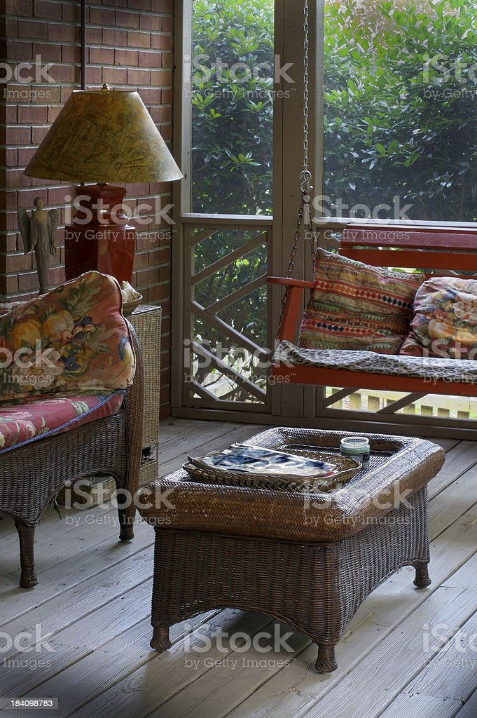 Enclosed Porch royalty-free stock photo