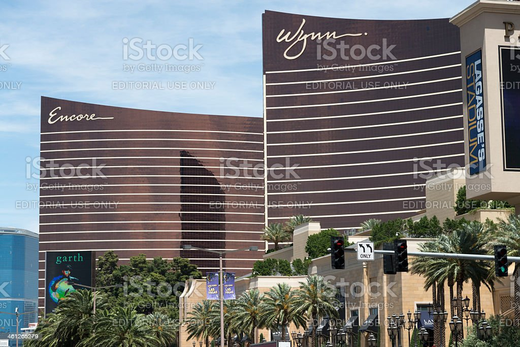 Encore and Wynn at Las Vegas Strip stock photo