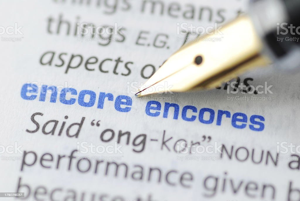 Encore - Dictionary Series stock photo