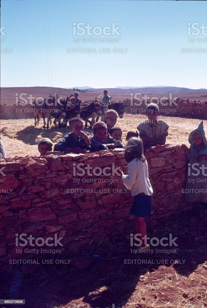 Encounter in Morocco stock photo