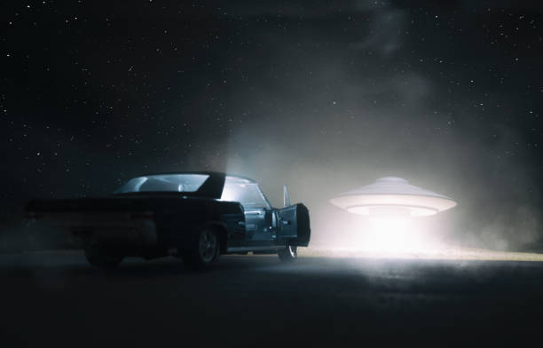 UFO Encounter stock photo