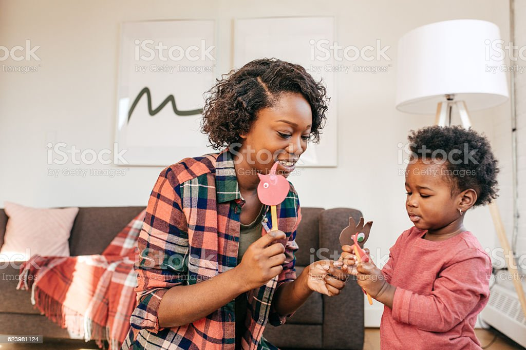 Encourage your toddler to play stock photo