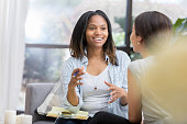istock Encouraging counselor meets with female patient 1034426846