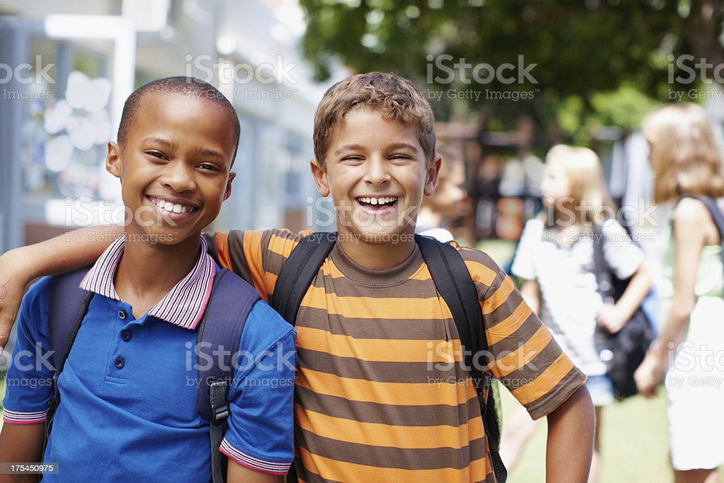 Encouraging great friendships in a positive environment stock photo