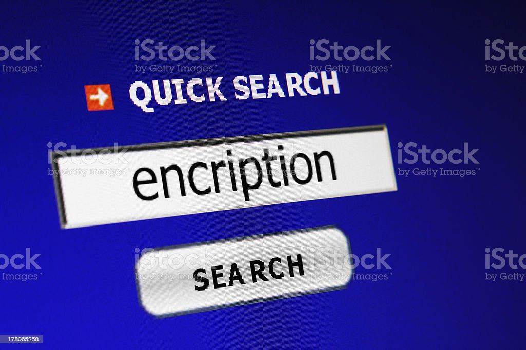Encription royalty-free stock photo