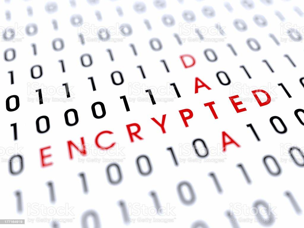 Encrypted Data XL+ royalty-free stock photo
