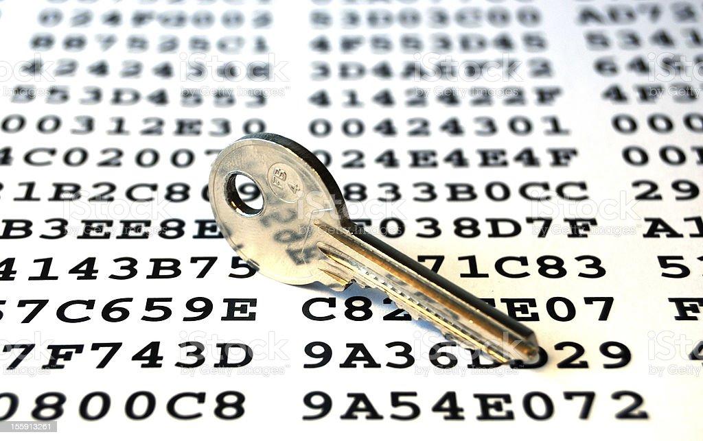 Encryption key royalty-free stock photo